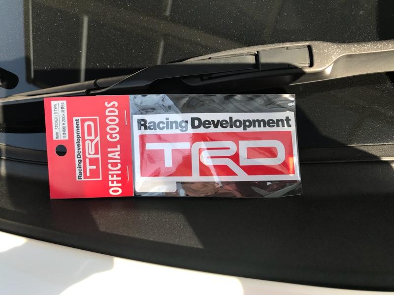 TRD / トヨタテクノクラフト Bタイプステッカー