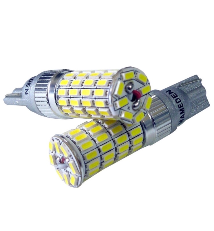 まめ電 T10 T16 LED バックランプ ホワイト MIRA-SMD-64ロング