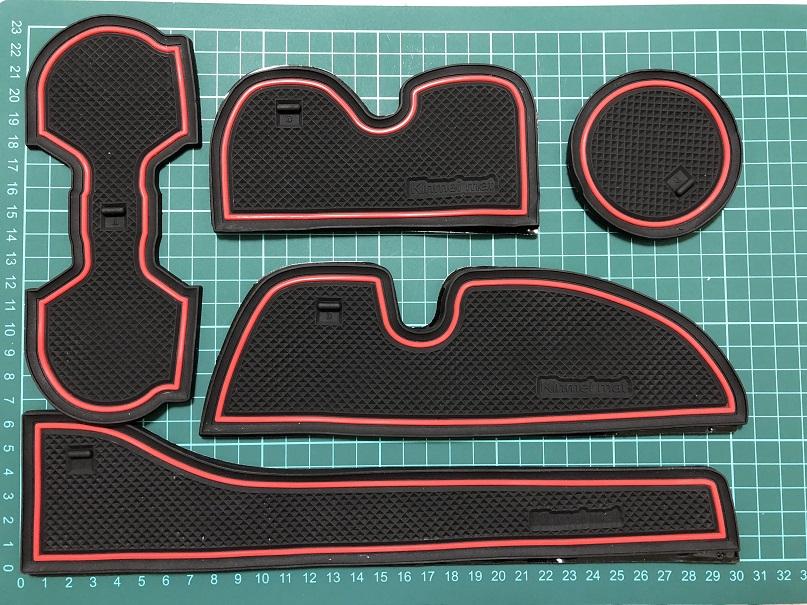 KINMEI 専用設計 ノンスリップ 収納スペース保護 ゴムラバーマット