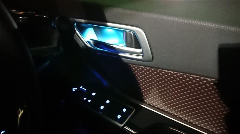 Grazio&Co. LED インサイドドアハンドルアンビエント ターコイズブルー