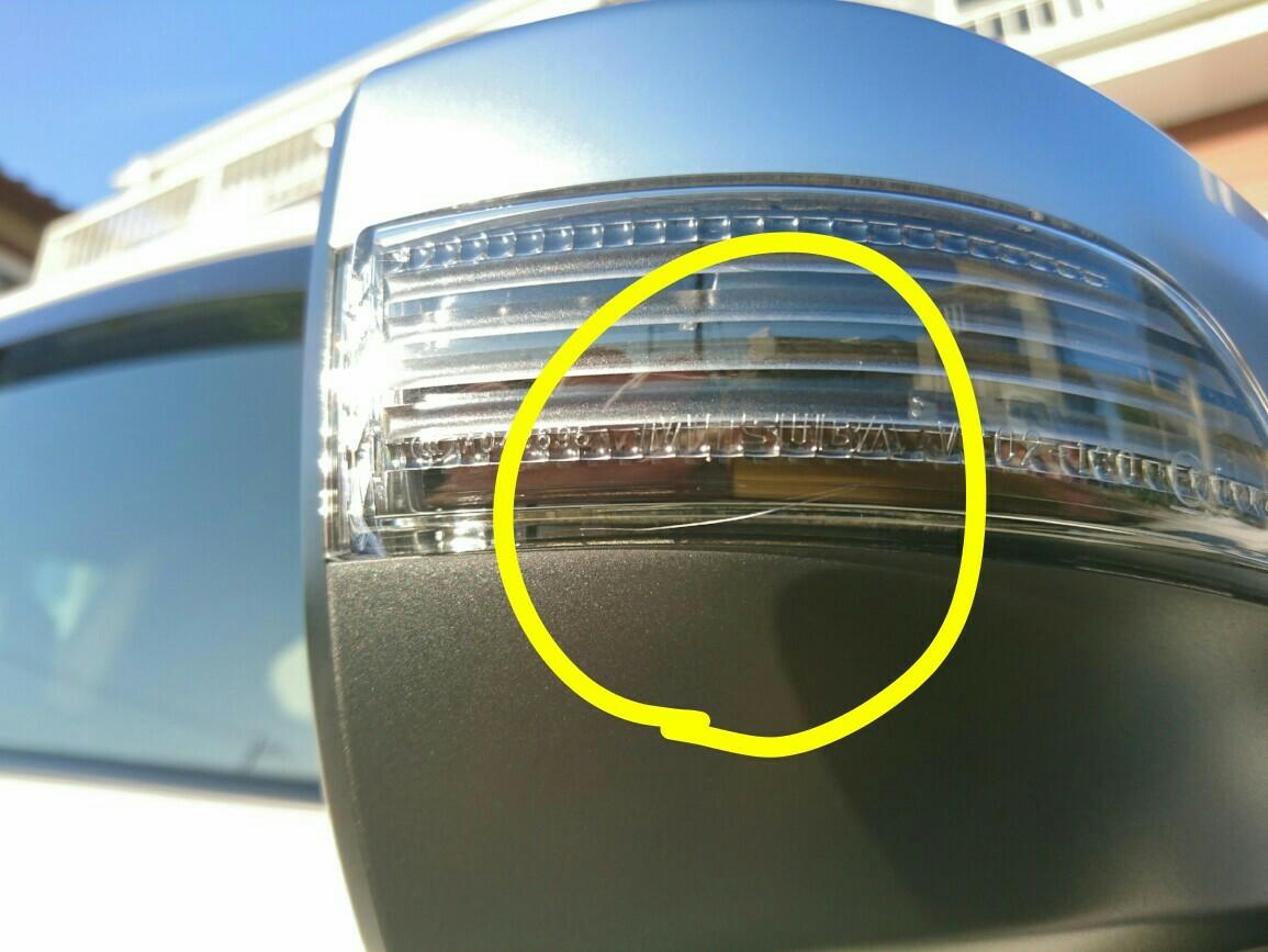 スバル(純正) LEDサイドターン付きドアミラー