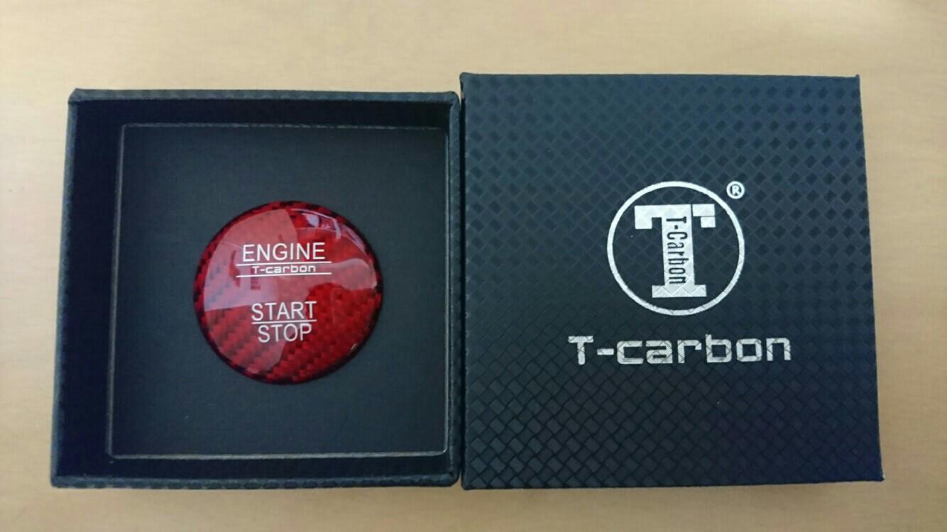 T-carbon ベンツ用カーボンスタートボタン
