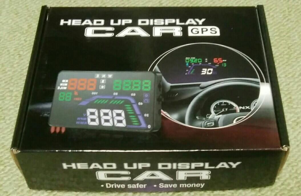 Cross field GPS ヘッドアップディスプレイ