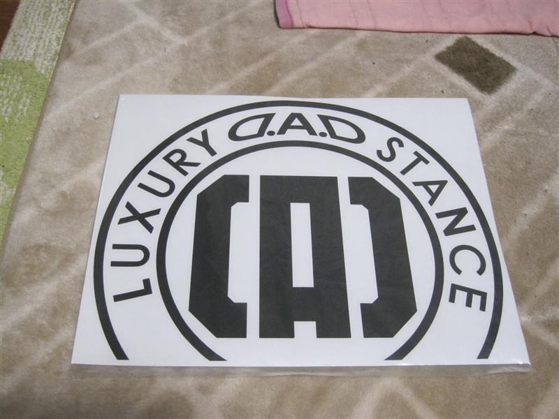 D.A.D / GARSON  D.A.D LUXURY STANCE 特注 CIRCLE BONET STICKER ガンメタ