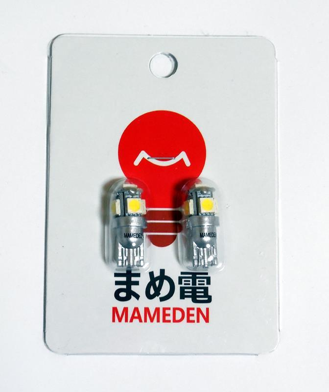 まめ電 T10 LED ホワイト 白 5050 3チップ 5連SMD
