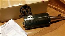 セロー250sp忠男 powerbox カーボンサイレンサーの全体画像