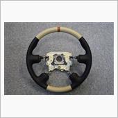 Leather Custom FIRST C24セレナ純正革巻きステアリングレストア