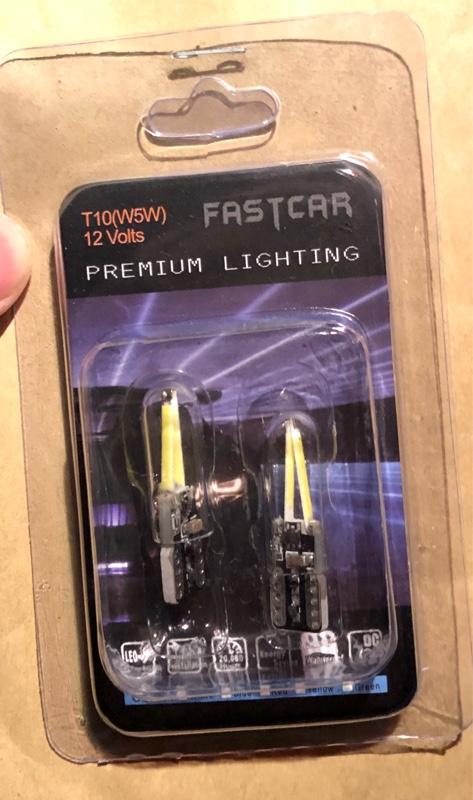 FASTCAR T10 COB ガラスレンズ付きLED ホワイト