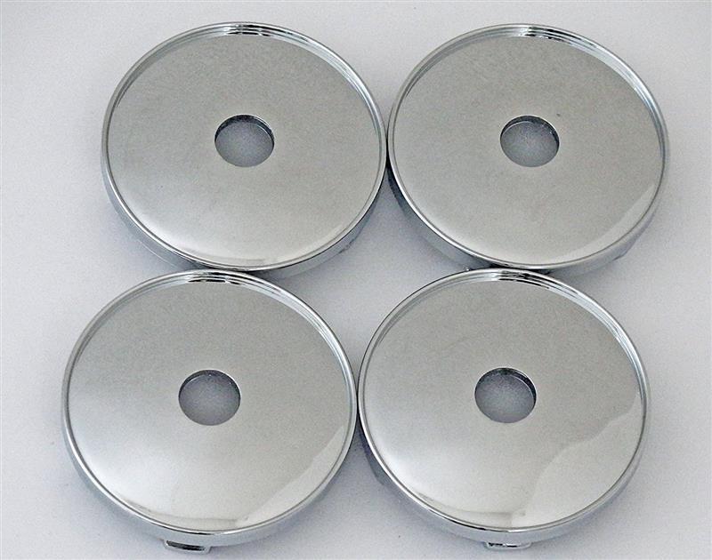 メーカー・ブランド不明 DIY センター キャップ メッキ 60mm 4個 セット シール 対応