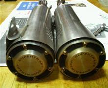 デスペラード400Xスーパートラップ モデル443 2in2 スリップオンの全体画像