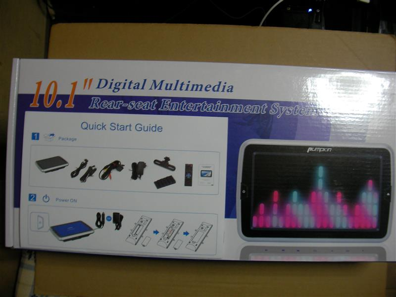 PUMPKIN 10.1 Inch Multimedia Rear-seat DVD Player CH06-10001B