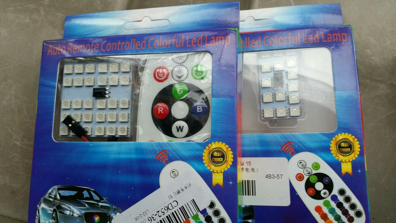 大陸製品 RGBオートリモートLEDランプ