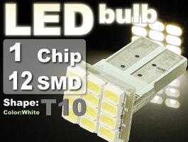 不明 自動車用12連ハイパワーSMD T10 LEDウェッジバルブ