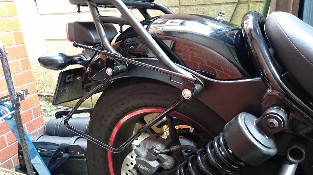 キジマ(KIJIMA)  バッグサポート ブラック 左右セット &サドルバッグスライドレール ショートタイプ