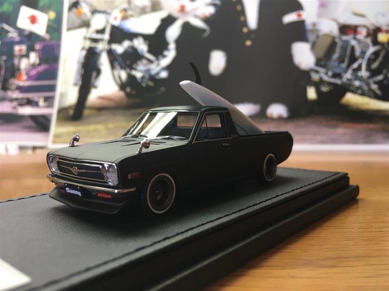 Ignition model Nissan Sunny truck long(B121) Matte Block MIYAZAYA MOKEI 70th anniversary