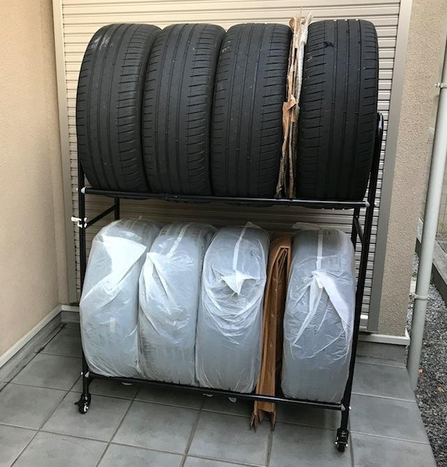 IRIS / アイリスオーヤマ 2段式タイヤラック