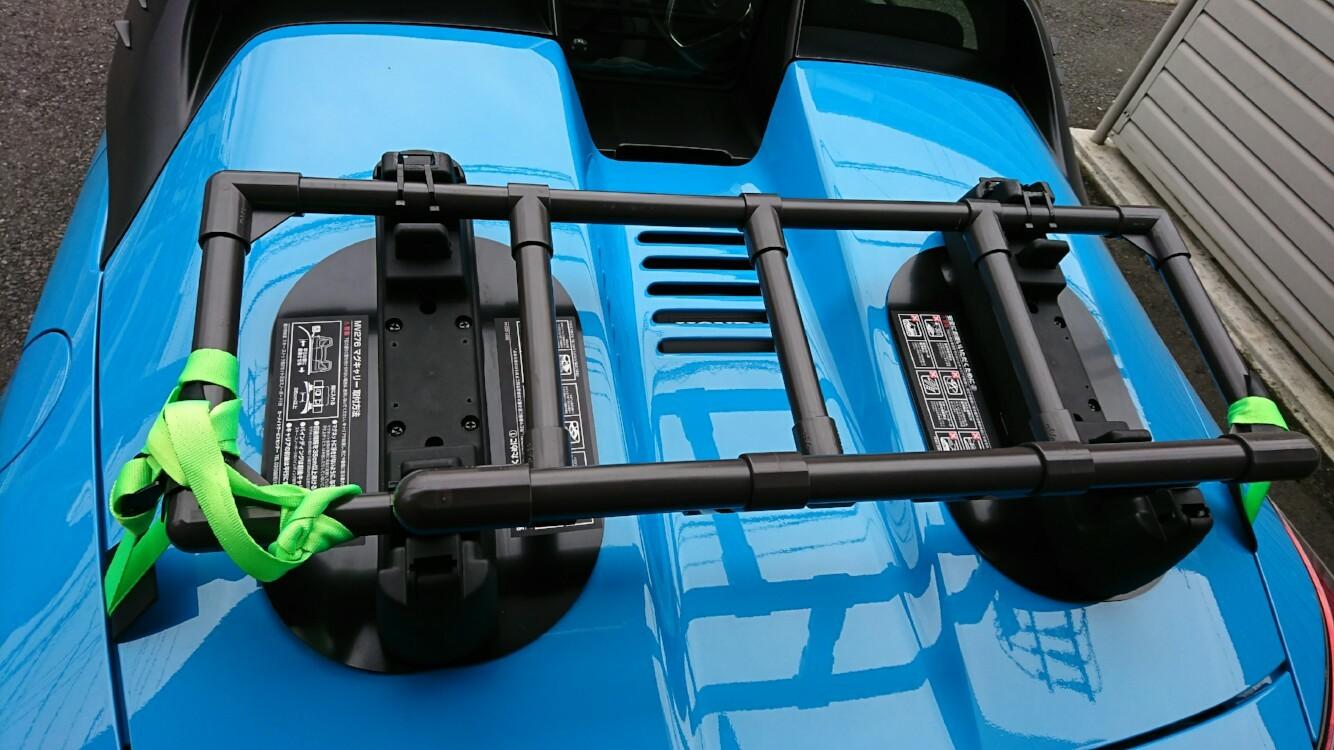 ヤフオク S660キャリア 荷台 ブラック スチールパイプ樹脂コーティング