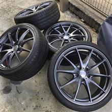 RS3 スポーツバックRAYS VOLK RACING G25 オプションカラー(ガンメタ)の全体画像