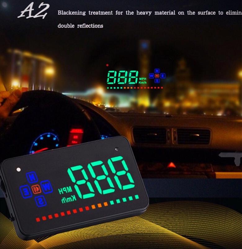 PolarLander  Auto Vehicle GPS HUD車ヘッドアップディスプレイスピードメーター過速度警告ダッシュボードウィンドシールドプロジェクター