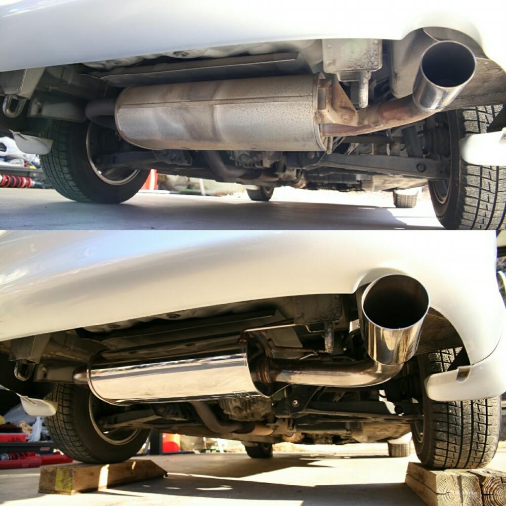 AutoExe Stainless Muffler Single Tail Type