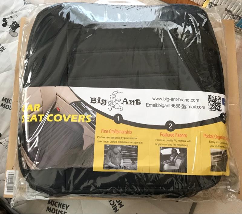 Big Ant Big Ant 車シートカバー 防水カーシートカバー 軽自動車 普通車 3D構造滑り止め 2個セット ブラック