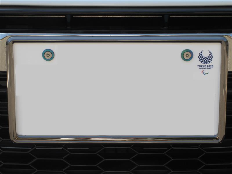 メーカー・ブランド不明 ナンバーフレーム ブラック クロームメッキ 2枚セット(フロント&リア)