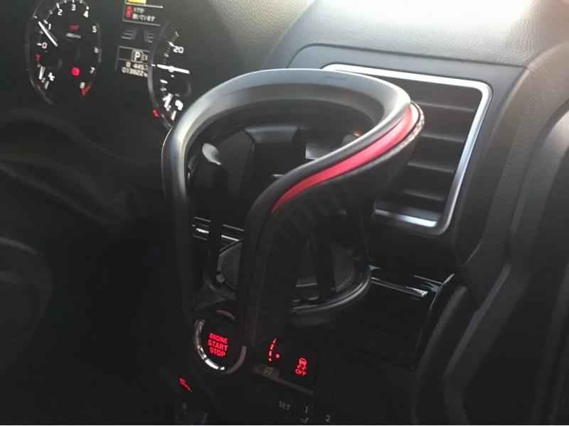 CAR MATE / カーメイト カップホルダー クワトロ X カーボン調 メタリックレッド