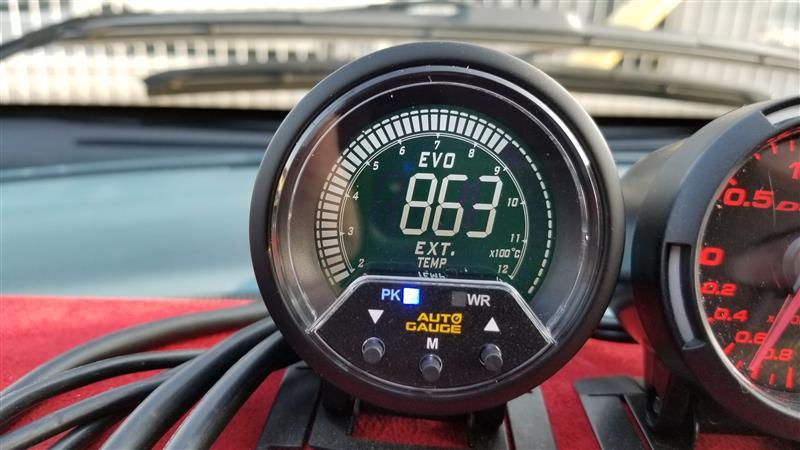 AutoGauge 排気温度計