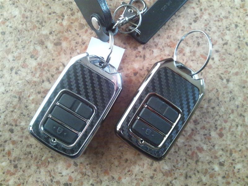 CAR MATE / カーメイト キーカバー ホンダ用C カーボン調ブラックメッキ / DZ257