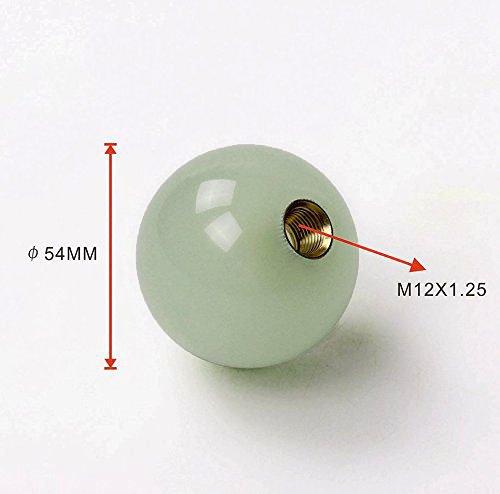 T&Tsport T&Tsport 汎用 アクリル製 蓄光夜光 ボール型シフトノブ 直径54mm M12xP1.25
