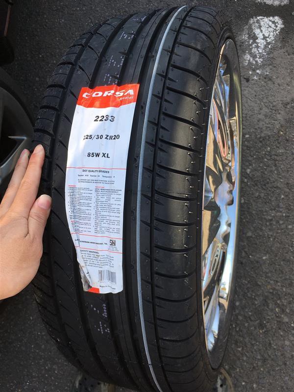 インドネシアタイヤメーカー Corsa Corsa 2233 225/30R20