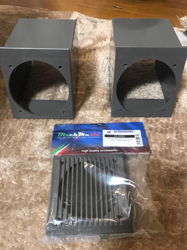 Black Music フィアット パンダ フロントスピーカー BOX