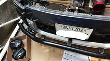 デリカD:5JAOS フロントスキッドバー ブラック/ブラスト+追加ランプブラケットの全体画像