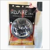 "Adjure T70100 Clear Lens 7"" Diamond Cut Ice Motorcycle Headlight"