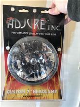 "KZ550Adjure T70100 Clear Lens 7"" Diamond Cut Ice Motorcycle Headlightの単体画像"
