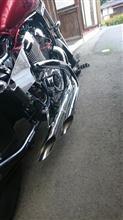 スティード400アメリカンドラッガーズ ツインソードマフラーの単体画像