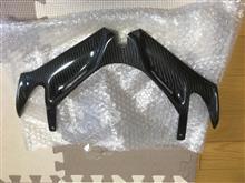 CBR250RRヤフーオークション購入 FRPカーボンフロントウイングの単体画像