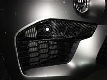 X6Mノーブランド カーボン フロントアッパー スプリッタ―の単体画像