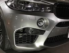 X6Mノーブランド カーボン フロントアッパー スプリッタ―の全体画像