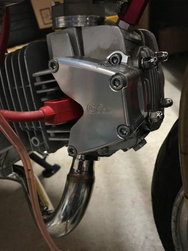 Gクラフト ビレットオイルクーラー横型エンジン用