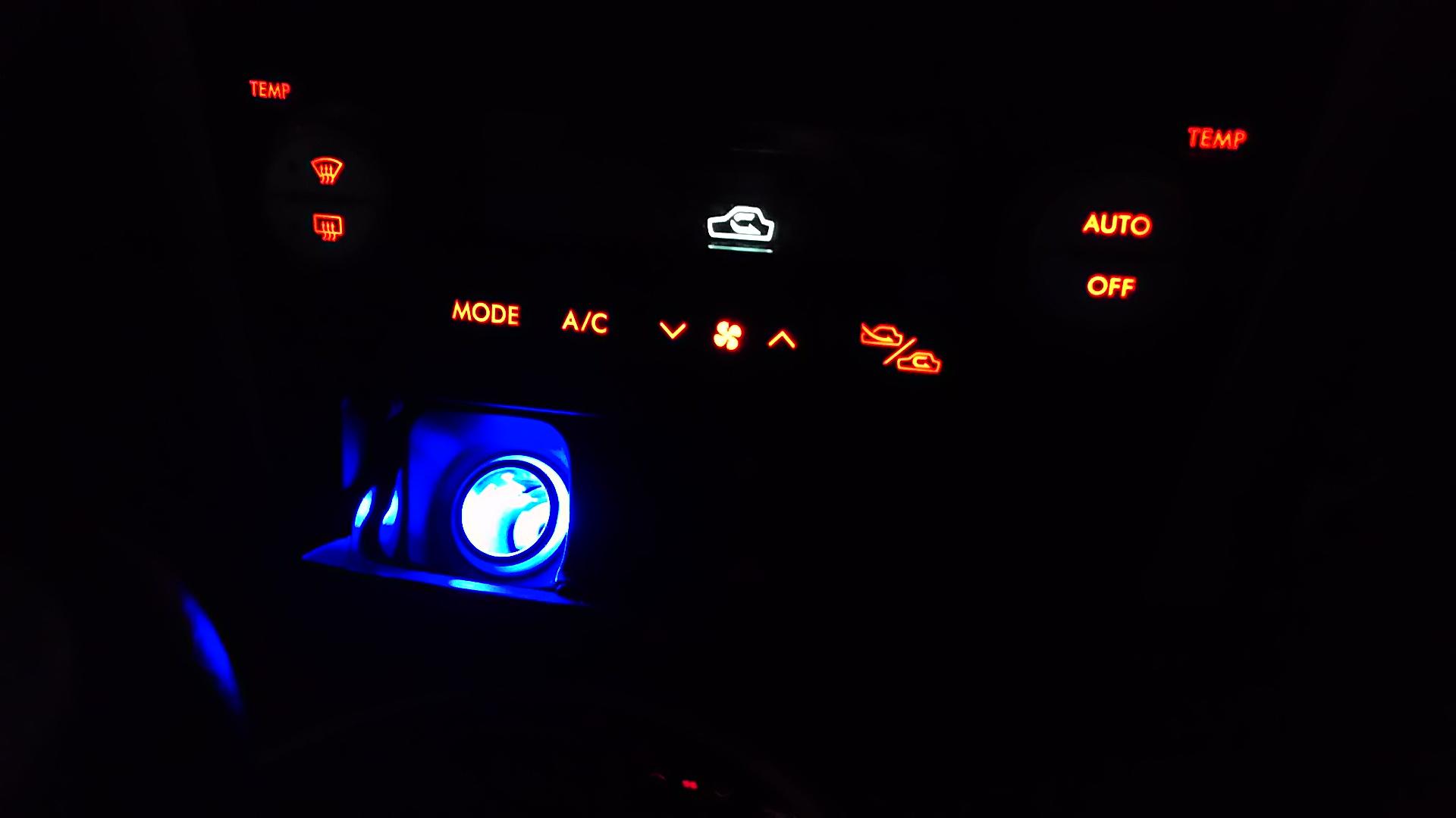 シガソケ 青LED
