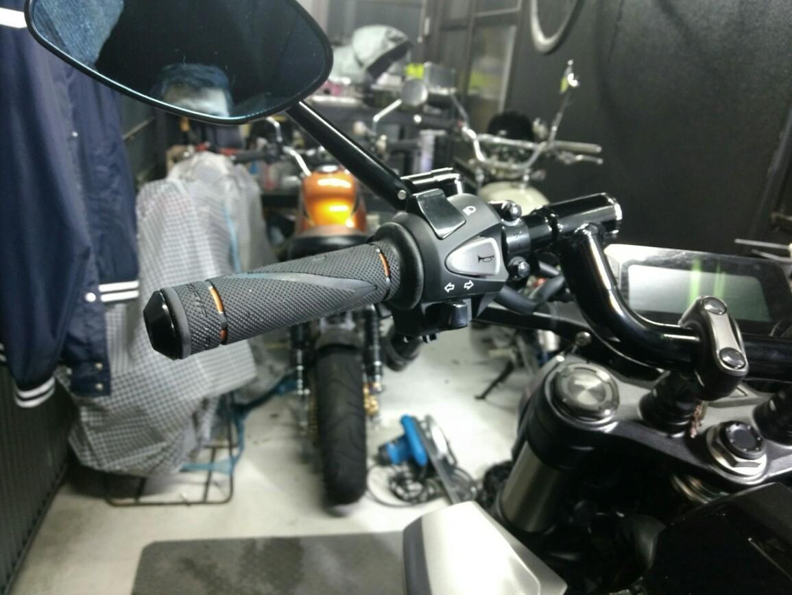 DAYTONA(バイク) PRO-GRIP(プログリップ) #838 X-SLIM 耐震GELグリップ ブラック/オレンジ 貫通 79184