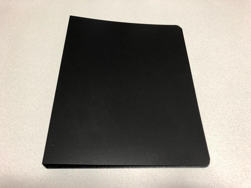 自作 2つ穴リングファイル(黒)