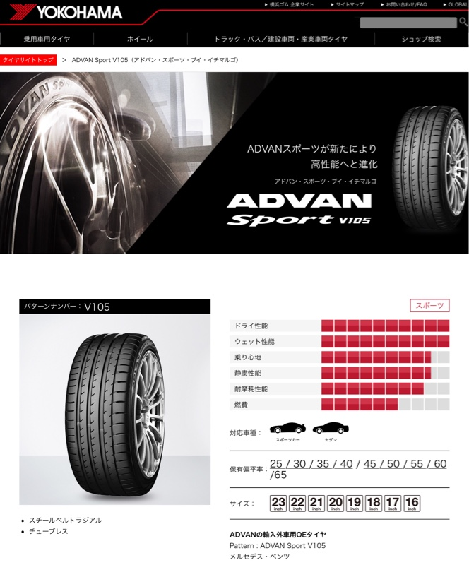 YOKOHAMA ADVAN Sport V105 235/55R18
