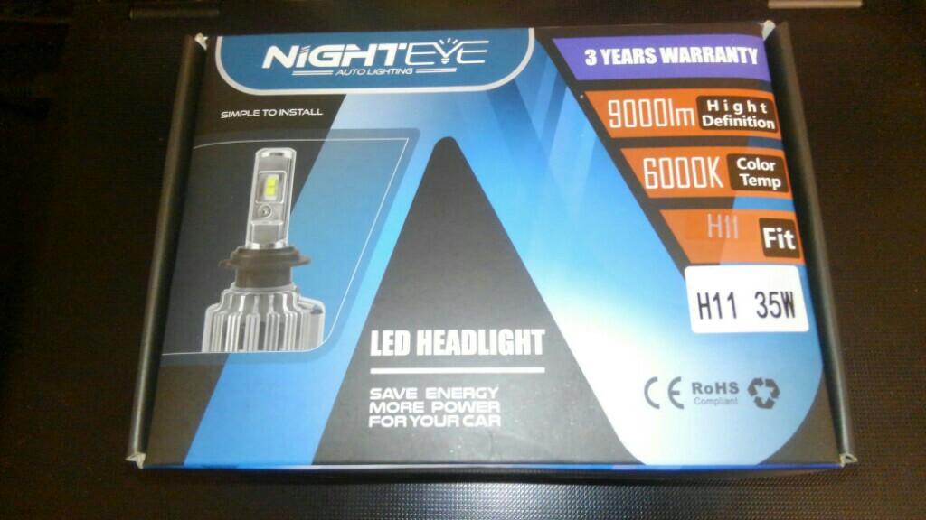 nighteye auto lighting H8/H9/H11兼用 12V専用 LEDヘッドライト/フォグランプ 35W 4500LM 6000k
