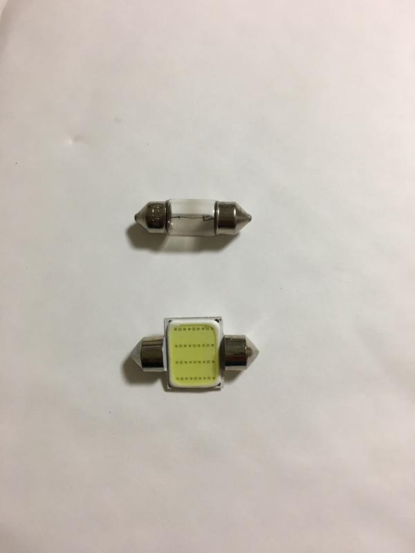 vonyo 室内灯LED ルームランプLED 12chips ホワイト 白LED COB LED T10-31mm 2個セット