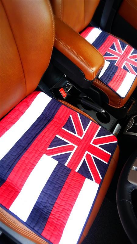 Royal Hawaiian Quilt Hawaii州旗クッションカバー