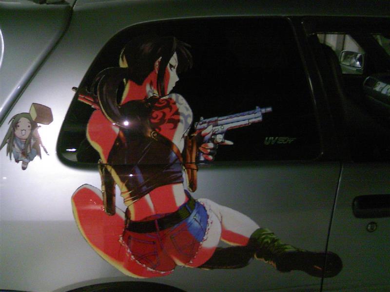 竹蔵オリヂナル ブラックラグーンカラーステッカーその7