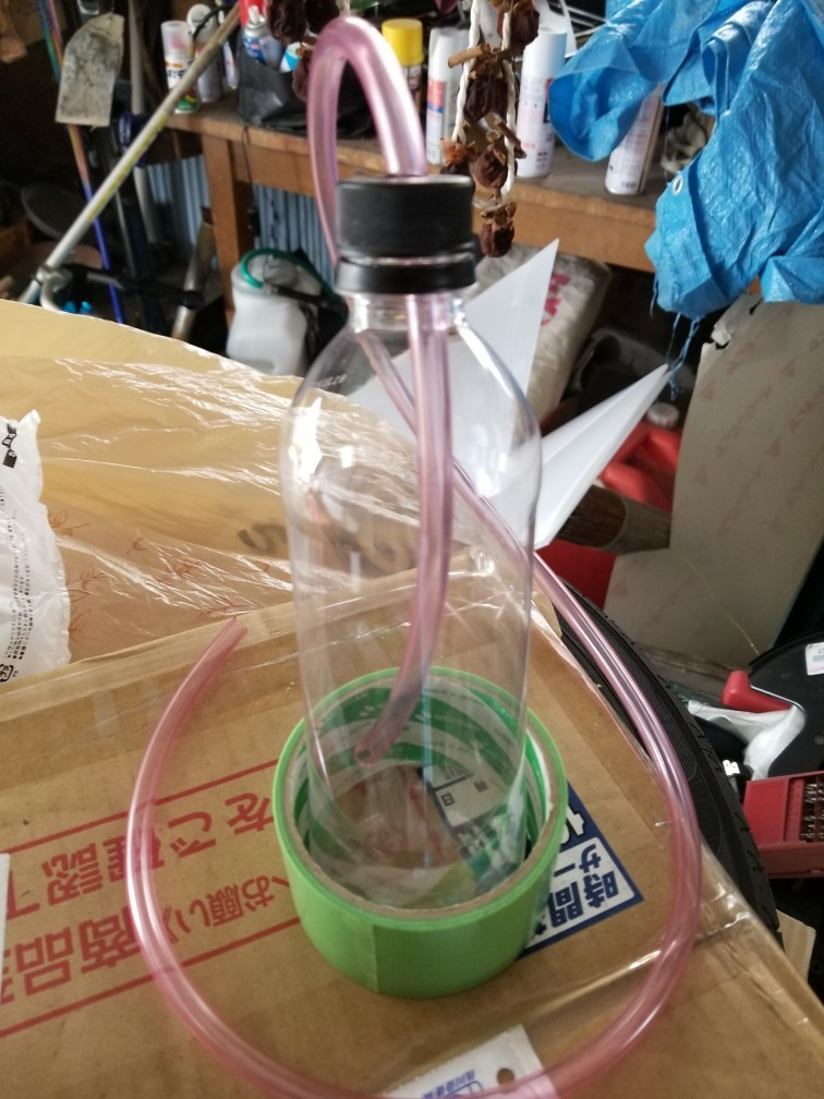 DIY ブレーキオイルエア抜き用ボトル