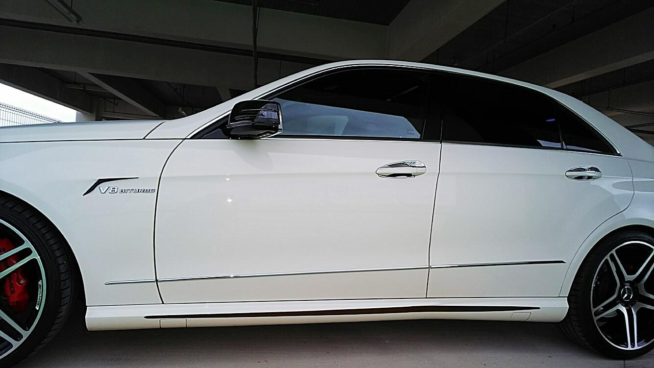 Mercedes-Benz 現行モデル用 サイドステップカバー ブラック